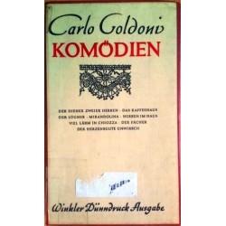 Komödien. Von Carlo Goldoni.