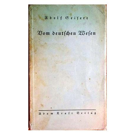 Vom deutschen Wesen. Von Adolf Seifert (1935).