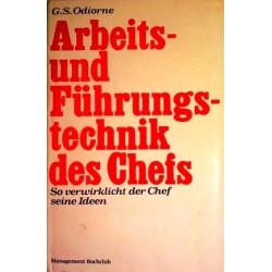 Arbeits- und Führungstechnik des Chefs. Von G.S. Odiorne (1968).