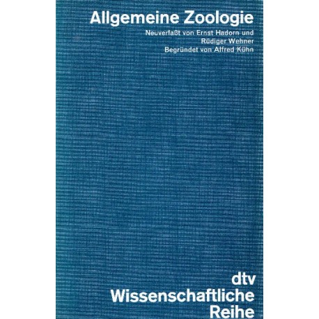 Allgemeine Zoologie. Von Alfred Kühn (1978).