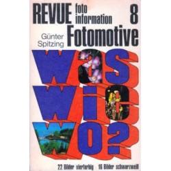 Revue Fotomotive 8. Information foto. Von Günter Spitzing (1975).