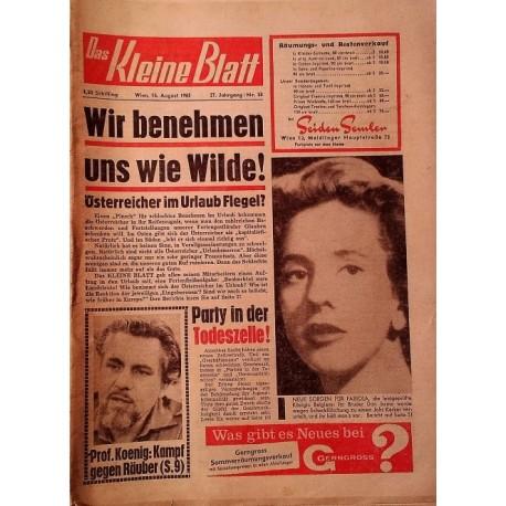 Das Kleine Blatt vom 14. August 1965.