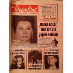 Das Kleine Blatt vom 21. August 1965.