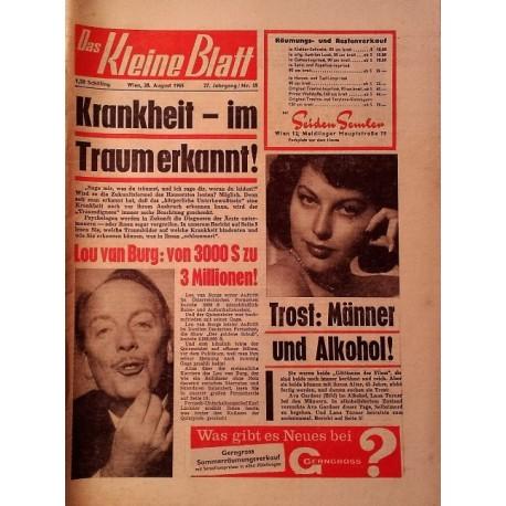 Das Kleine Blatt vom 28. August 1965.