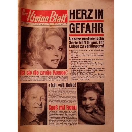 Das Kleine Blatt vom 18. September 1965.
