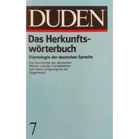 Das Herkunftswörterbuch. Von Günther Drosdowski (1989).