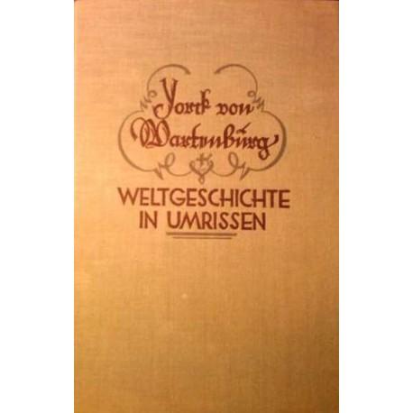 Weltgeschichte in Umrissen. Von Graf York von Wartenburg (1919).