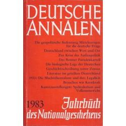 Deutsche Annalen 1983. Von Gert Sudholt (1983).