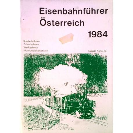 Eisenbahnführer Österreich 1984. Von Ludger Kenning (1984).