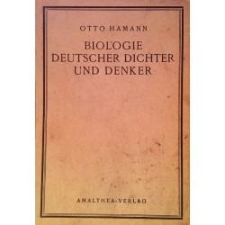 Biologie deutscher Dichter und Denker. Von Otto Hamann (1923).