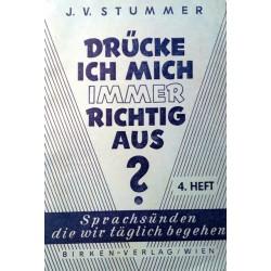 Drücke ich mich immer richtig aus? Von Josef Viktor Stummer (1962).