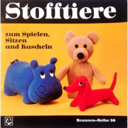 Stofftiere zum Spielen, Sitzen und Kuscheln. Von Erna Rath (1973).