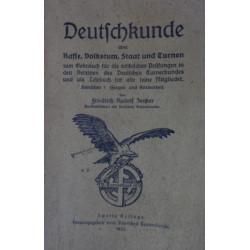 Deutschkunde über Rasse, Volkstum, Staat und Turnen. Von Friedrich Rudolf Zenker (1923).