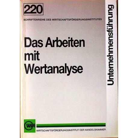Das Arbeiten mit Wertanalyse. Von Heinz Kaniowsky.