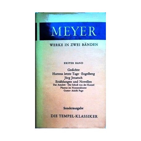 Conrad Ferdinand Meyer. Werke in zwei Bänden. Band 1 und 2 (1982).